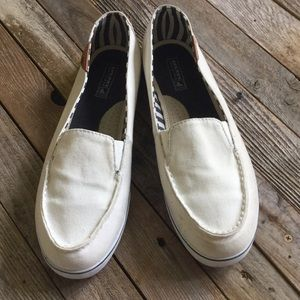 Sperry Top Sider White slip ons